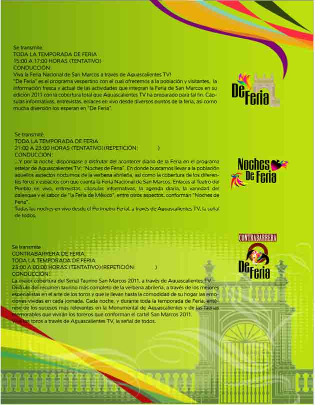 Programme Feria Aguascalientes