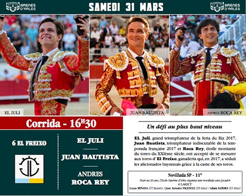 Cartels samedi Arles Pâques
